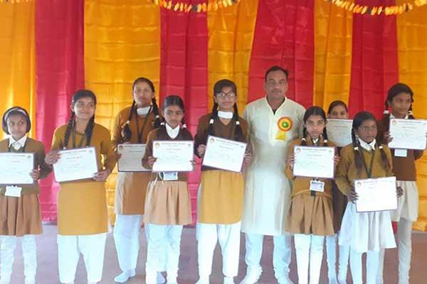 Republic Day was celebrated enthusiastically in the patriotically charged atmosphere. On this occasion students were awarded with certificates who won the competitions held in CCA activities throughout the session.